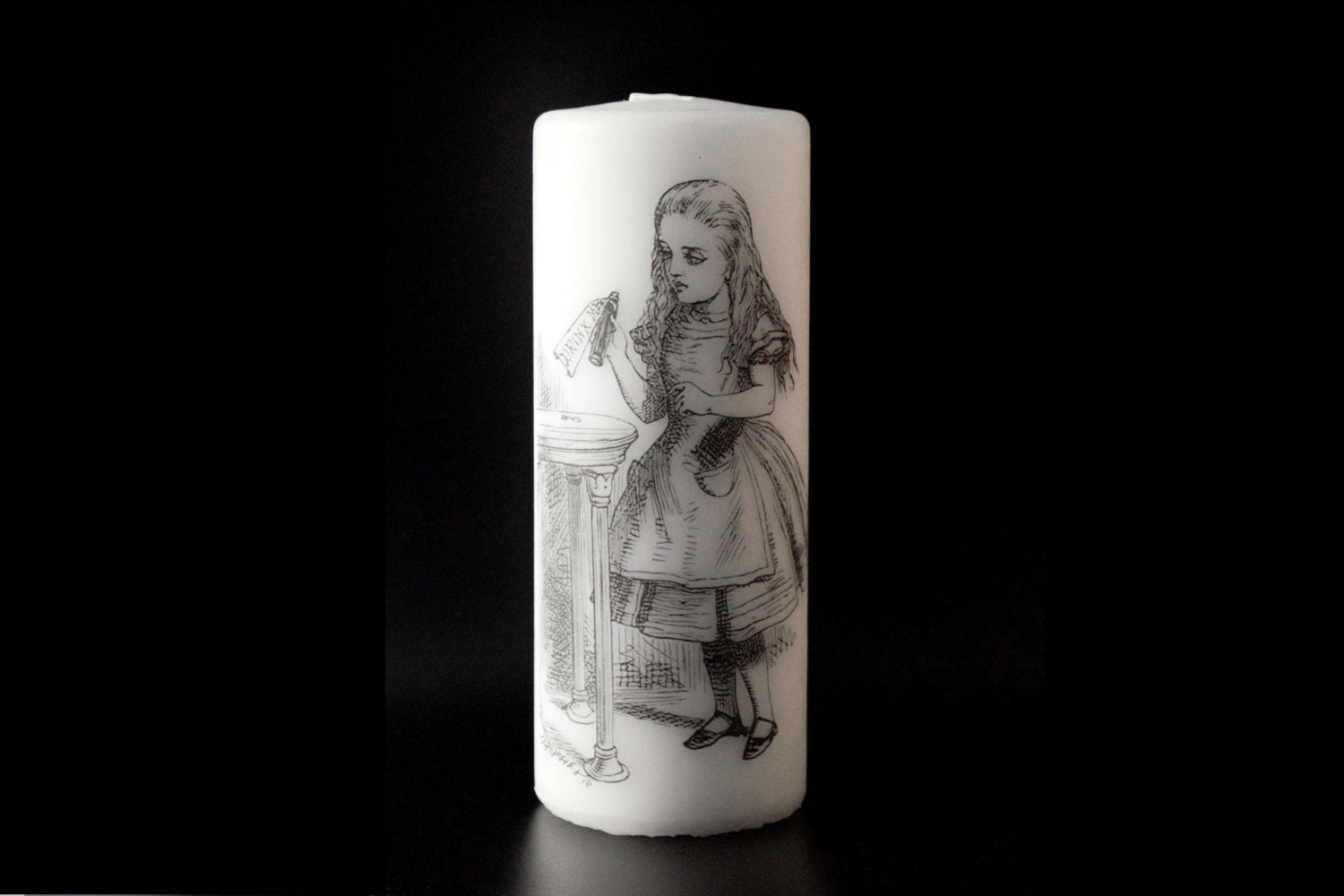 Alice in wonderland - Drink Me - Pillar Candle - Whimsical Decor - ByCandlelight27