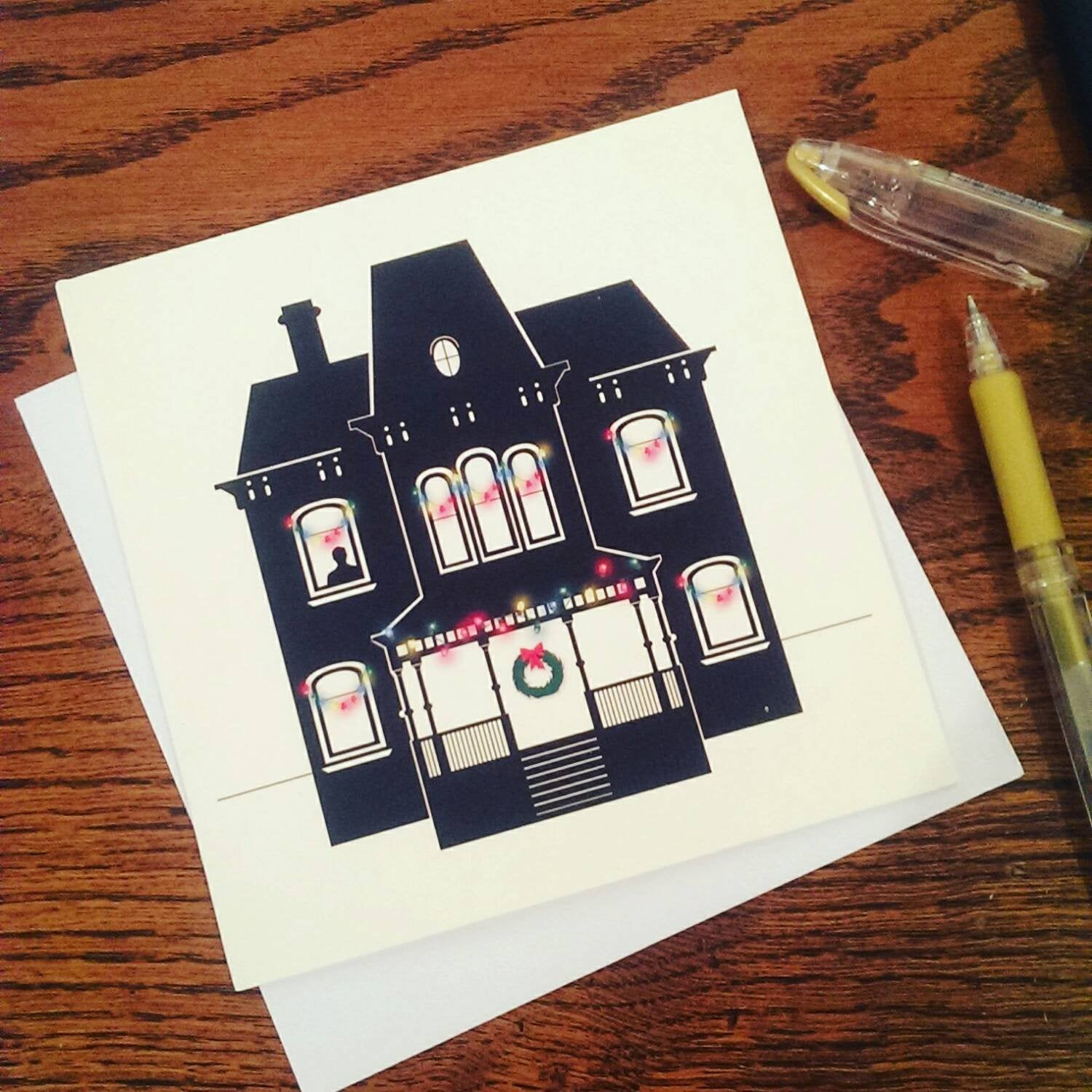 Bates Motel, Psycho, Horror House, Norman Bates, Horror, Christmas Card, Seasons greetings - ByCandlelight27