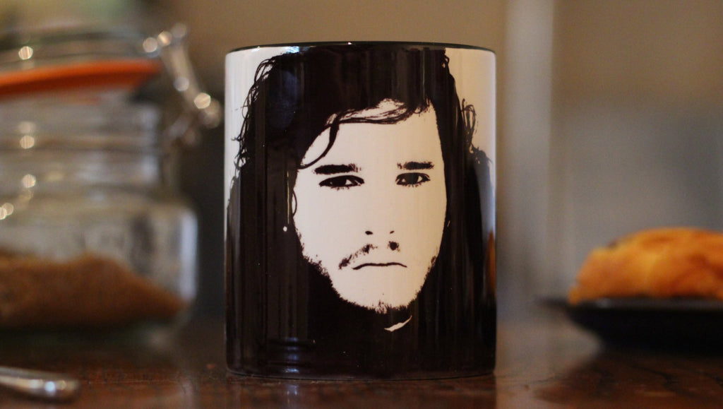 John Snow - Kit Harrington - Game of Thrones - Winter Is Coming - Spooks - Portrait cup - ByCandlelight27