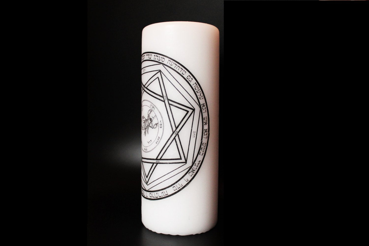 Devils Trap - Supernatural - Pillar Candle - Goth Decor Decor - ByCandlelight27