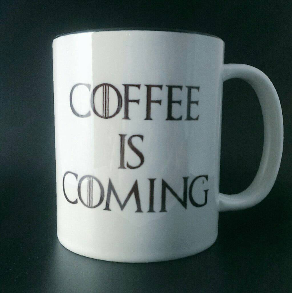 Game Of Thrones - Coffee is Coming - Winter Is Coming - House of Stark - 14oz Travel Cup - ByCandlelight27