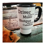 Driver Picks The Music Shotgun Shuts His Cake Hole - Supernatural - Travel Mug -  Thermal Cup - ByCandlelight27