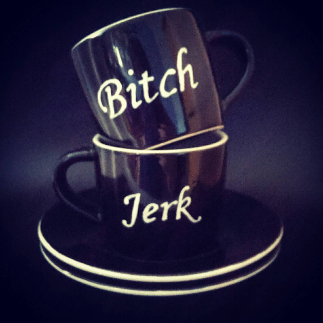 Supernatural - Bitch & Jerk - Hand Painted Espresso Set - ByCandlelight27
