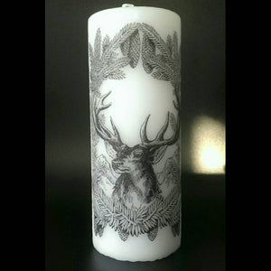 Nature Stag / Deer Candle  - Pillar Candle - Classic Decor - ByCandlelight27