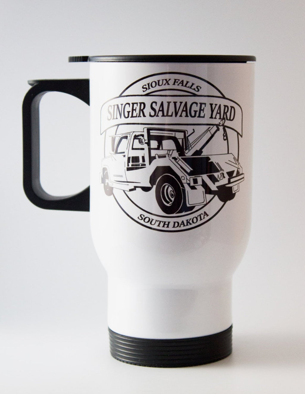 Bobby Singer - Singer Salvage - Supernatural -Travel Mug - Thermal Cup - ByCandlelight27
