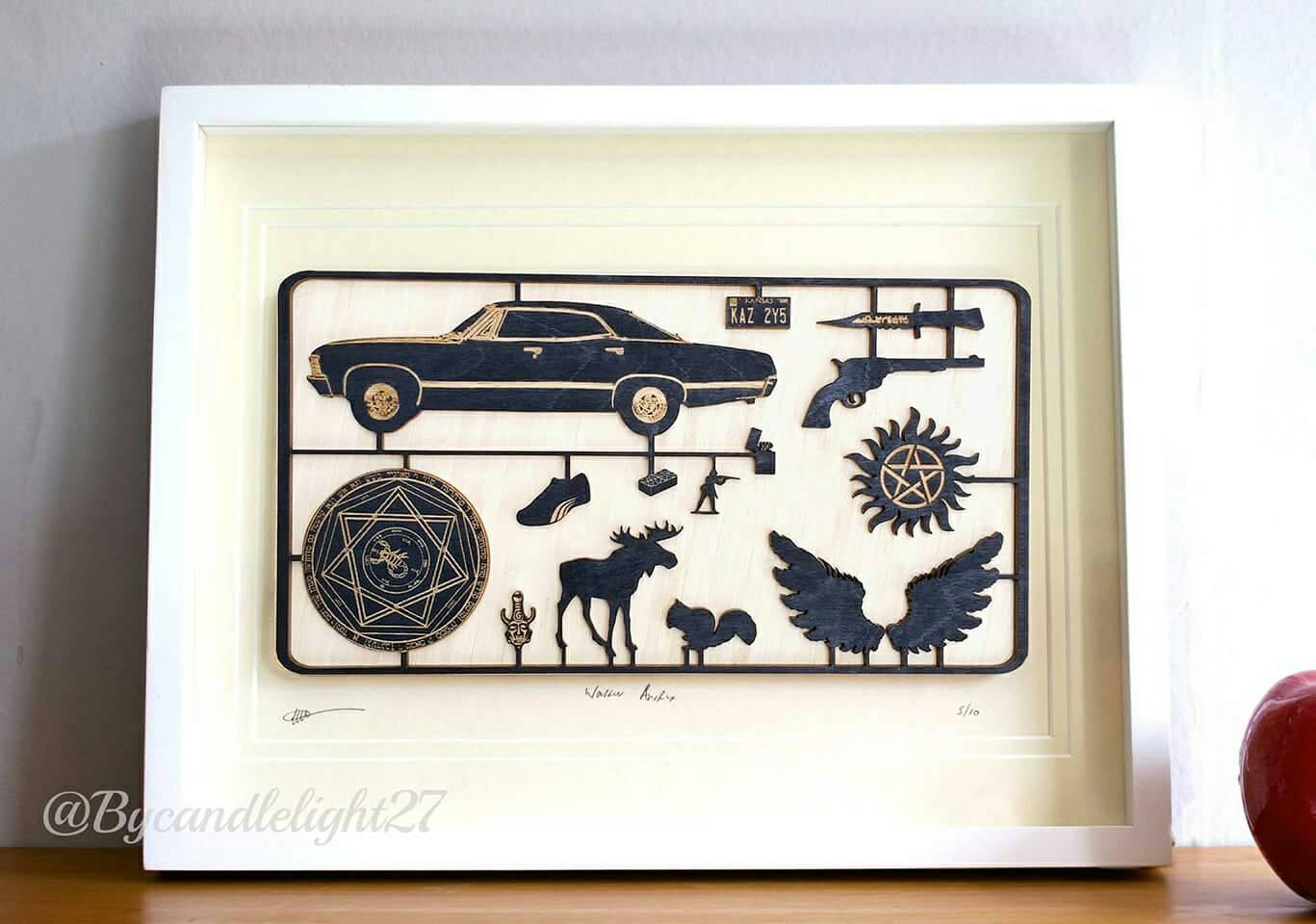 Buffy The Vampire Slayer - Woodcut - fix kit Design - Mounted Art - ByCandlelight27