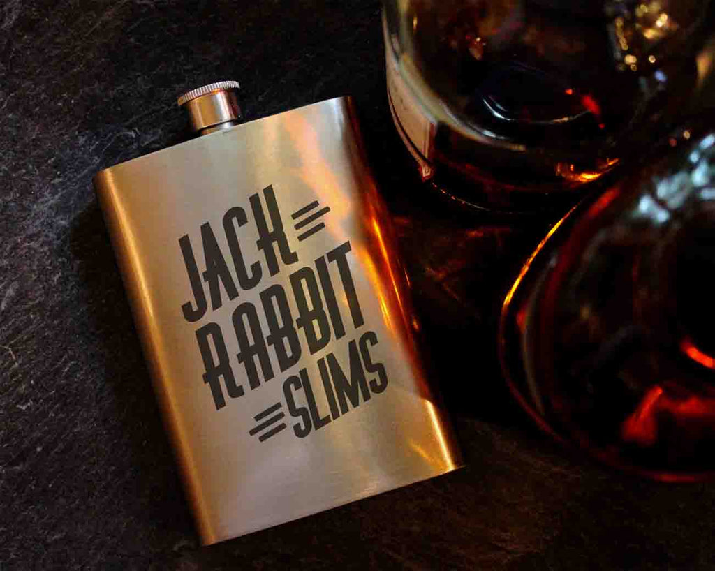 Jack Rabbit Slims Pulp Fiction 8oz Hip Flask, Drinking Flask - ByCandlelight27