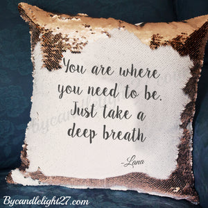 Lana Quote - Once Upon A Time - Hidden Message Cushion - ByCandlelight27