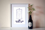 Personalised Time Traveller Star Map Print - ByCandlelight27