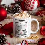 Santa Claws - Hand Crafted Cup
