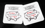 Pig In A Poke Supernatural - Hardwood Coasters - ByCandlelight27