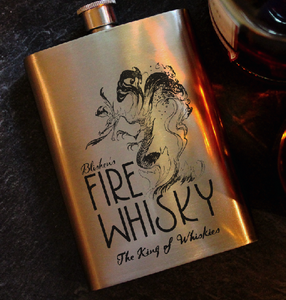 Fireball Whiskey 8oz Hip Flask, Drinking Flask - ByCandlelight27