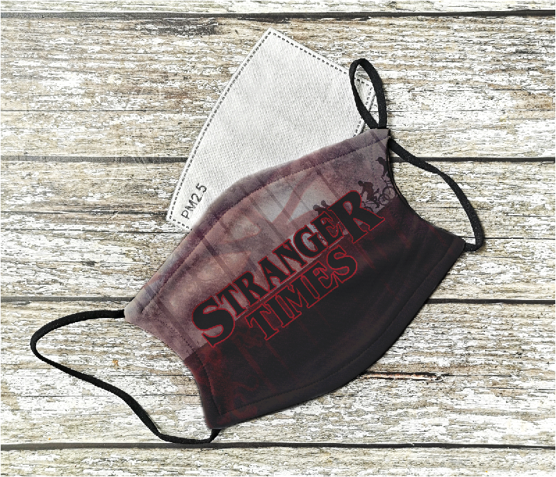 Stranger Times inspired Horror Face Mask