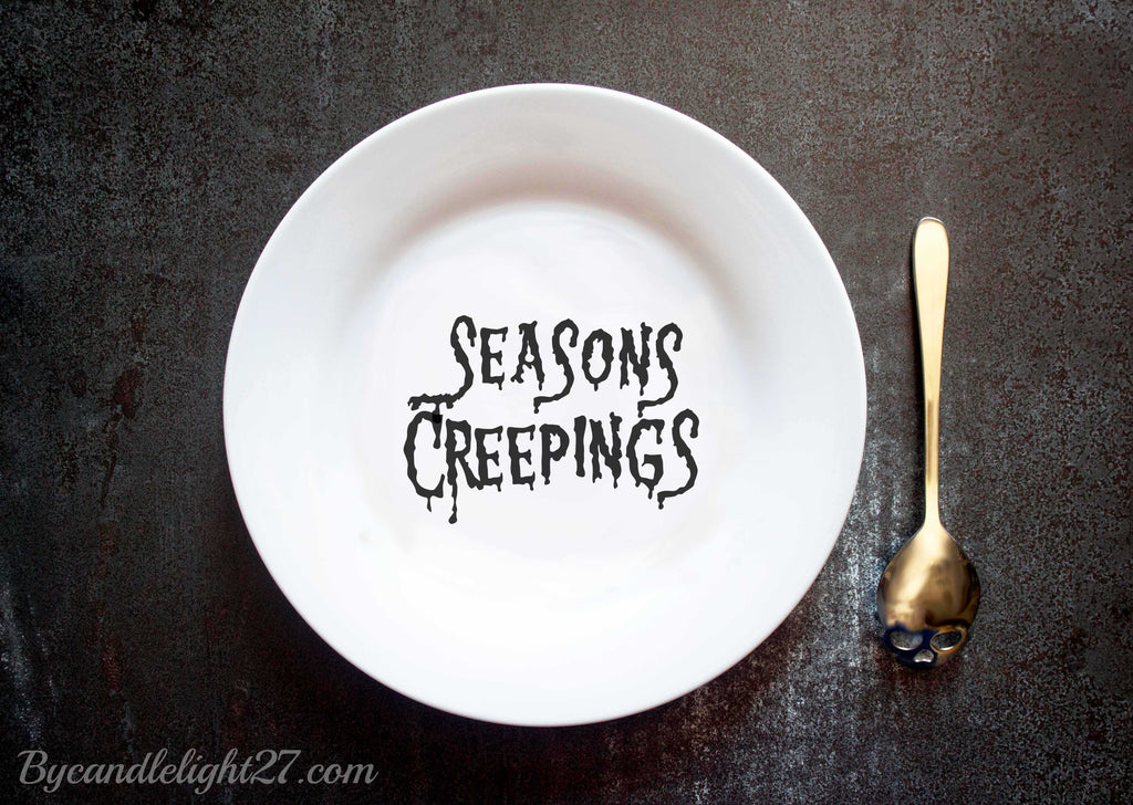 Seasons Creepings Halloween Ceramic Plate