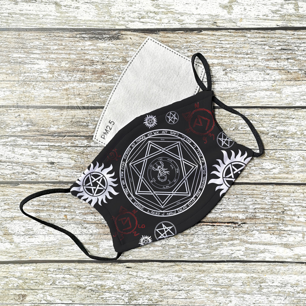Supernatural Devils Trap inspired Face Mask