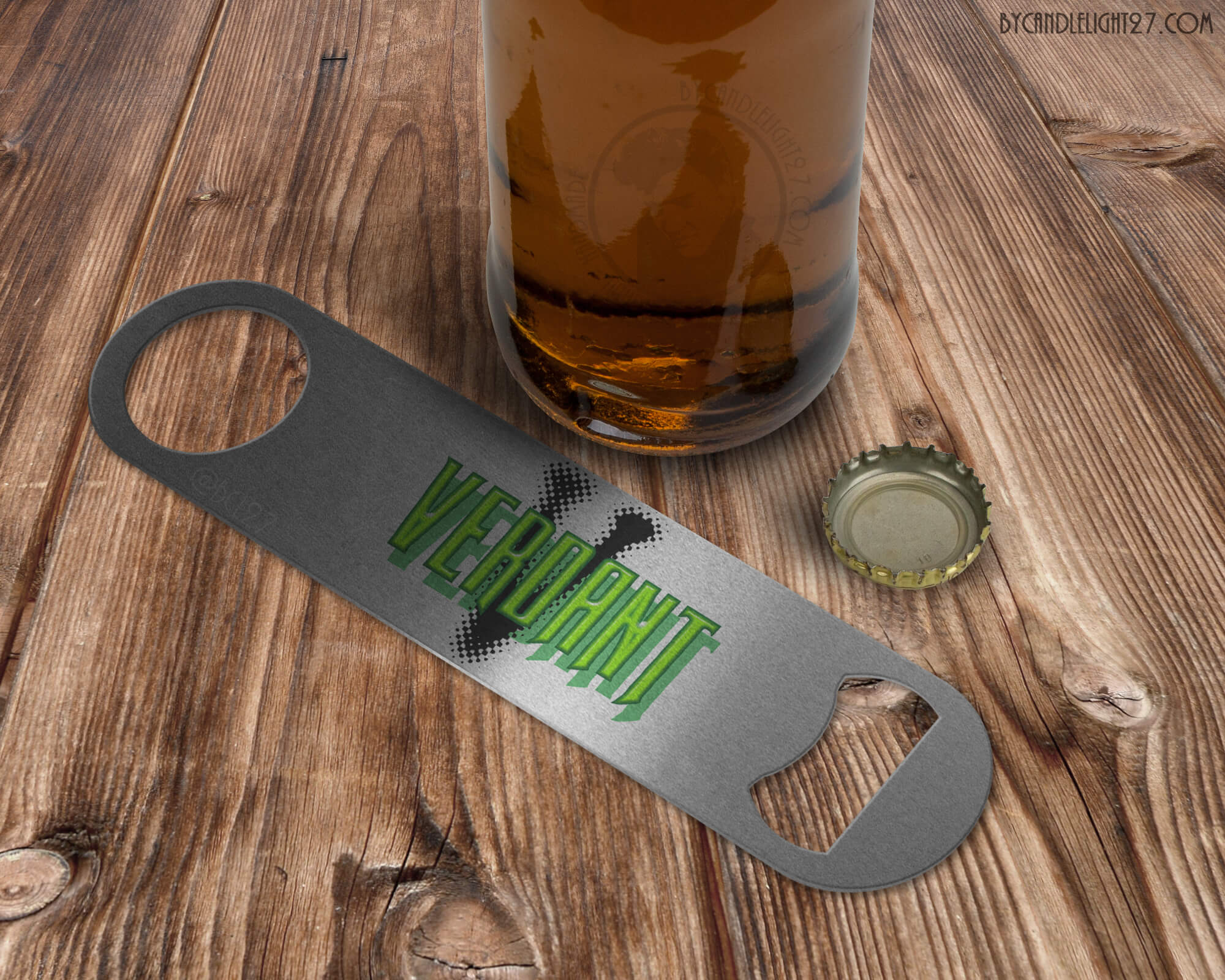 Verdant Green Arrow - Bar Blade Bottle Opener