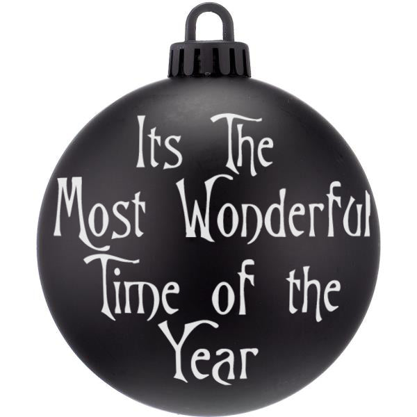 Most Wonderful Time Nightmare Christmas Bauble Ornaments - ByCandlelight27