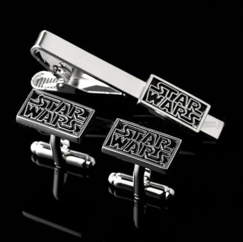 Star wars cufflink and tie clip set