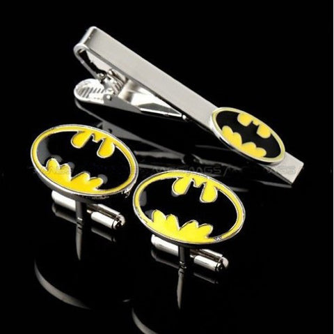 Batman cufflink & tie clip set
