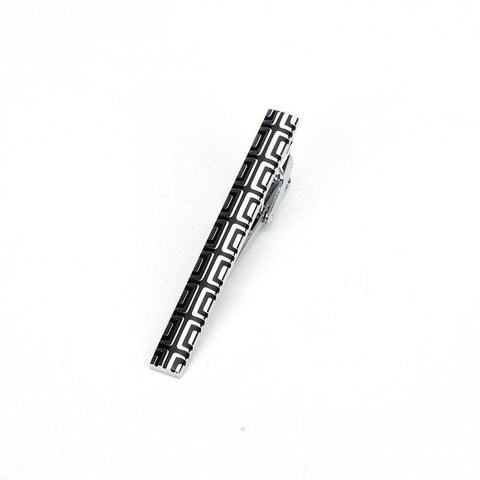 Black and silver polished eye catching tie clip