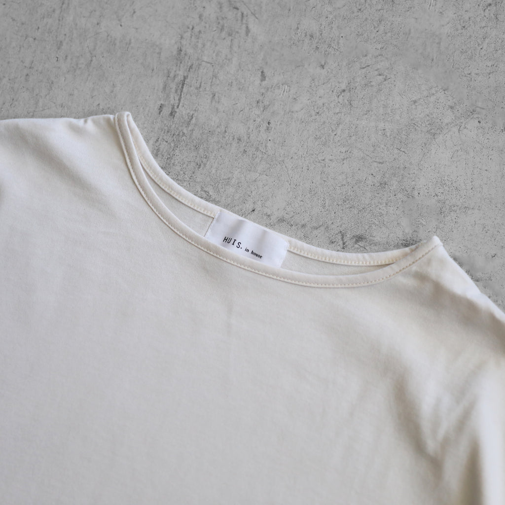 【HUIS in house】 SUVIN COTTON長袖コクーンカットソー(ivory)
