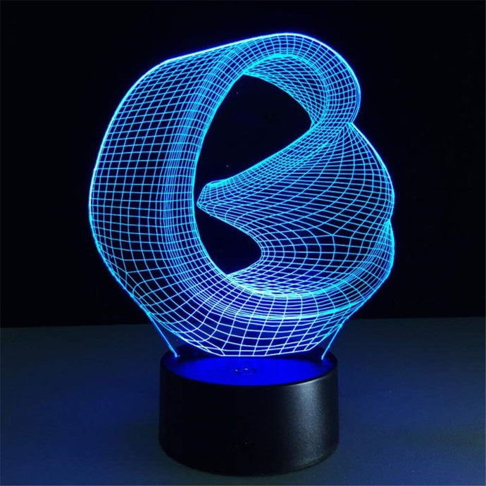 Lamps @ Seasonal Hub 3D Abstract Ring Lamp