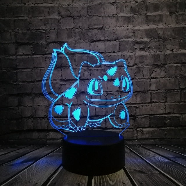 3D Bulbasaur Lamp