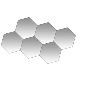 6x Basotect® G+ Schall-Absorber-Platten – Hexagon