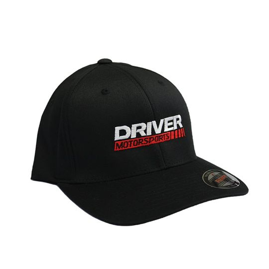 Driver Motorsports Embroidered Black FLEXFIT Hat