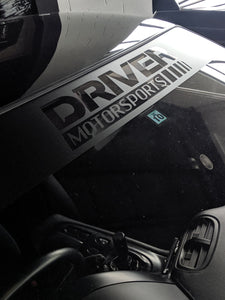 Black Driver Motorsports Windshield Banner