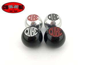 CUBE Speed - Red on silver billet gear shift knob to suit CUBE short shifters