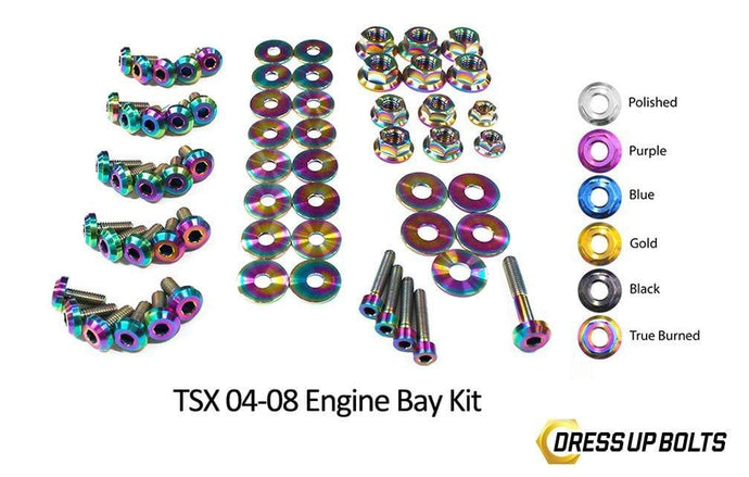 Acura TSX (2004-2008) Titanium Dress Up Bolts Engine Bay Kit - DressUpBolts.com