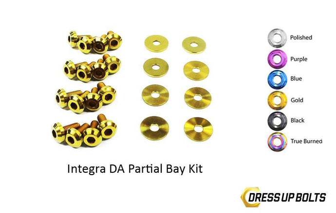 Acura Integra DA (1989-1993) Titanium Dress Up Bolts Partial Engine Bay Kit - DressUpBolts.com