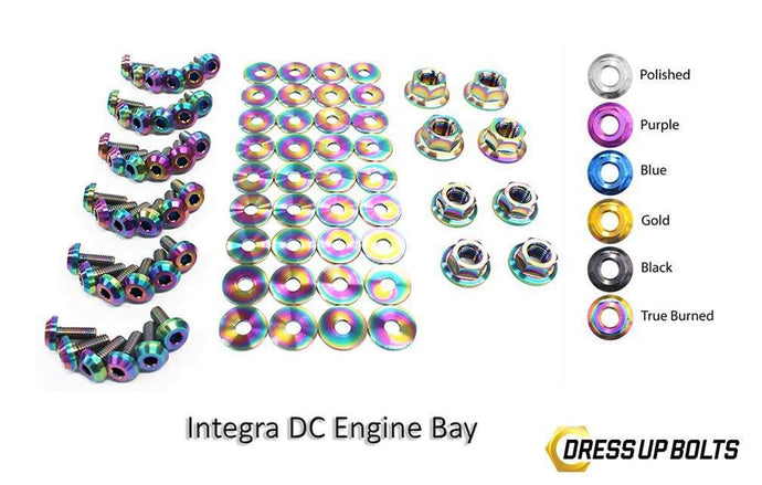 Acura Integra DC (1994-2001) Titanium Dress Up Bolts Full Engine Bay Kit - DressUpBolts.com