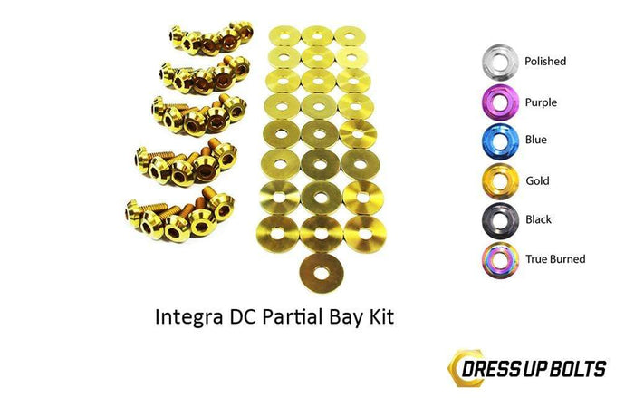 Acura Integra DC (1994-2001) Titanium Dress Up Bolts Partial Engine Bay Kit - DressUpBolts.com