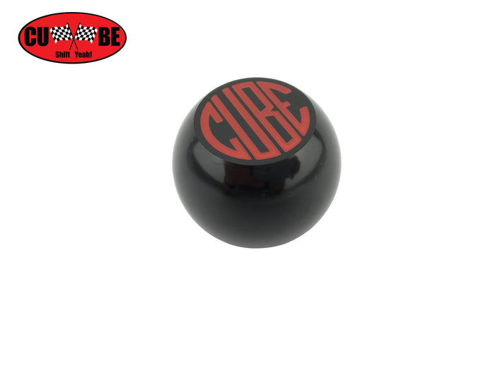 CUBE Speed - Red on black billet gear shift knob to suit CUBE short shifters