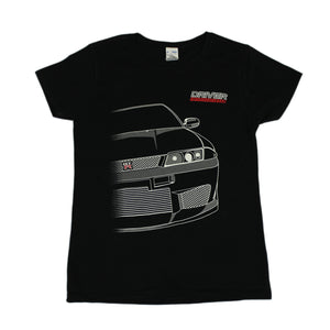 Driver Motorsports GTR Womens T-Shirt in Black