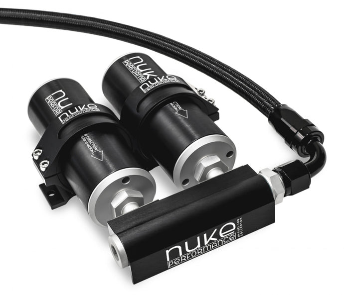 Nuke Performance 4-Port Fuel Log Collector for Dual Nuke Fuel Filter Slim