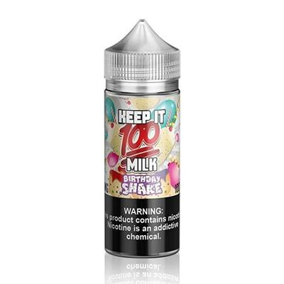 Milk Birthday Shake E-Liquid By Keep It 100 100ml Short Fill