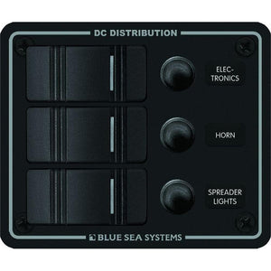 Blue Sea 8374 Water Resistant 3 Position - Black - Vertical Mount Panel