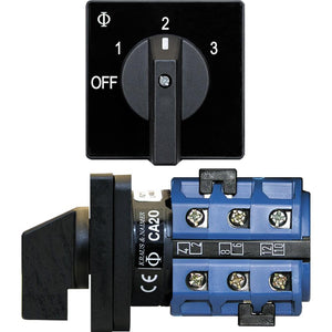 Blue Sea 9010 Switch, AV 120VAC 32A OFF +3 Positions