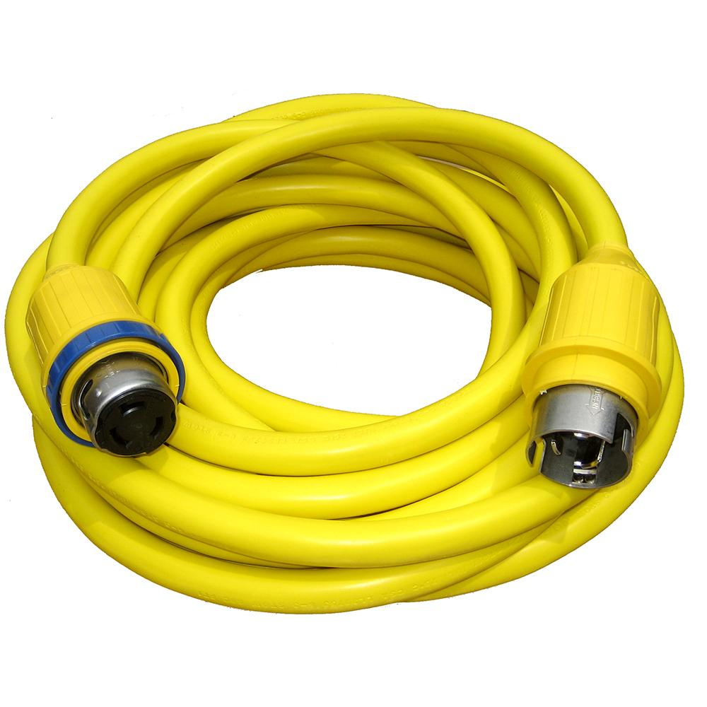 Charles 50 Amp 50' Cord Set - Yellow - 125V