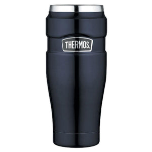 Thermos Stainless King™ Vacuum Insulated Travel Tumbler - 16 oz. - Stainless Steel-Midnight Blue