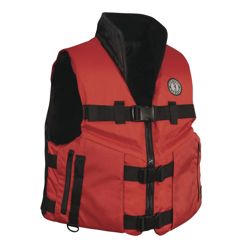 Mustang Accel 100 Fishing Vest - Red-Black - Medium