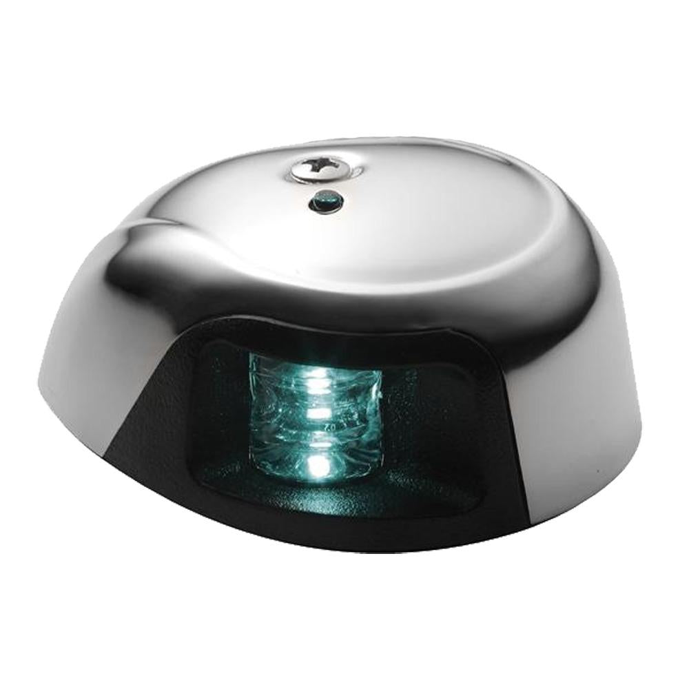 Attwood 3500 Series 1-Mile LED Green Sidelight - 12V - Stainless Steel Housing