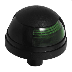 Attwood Pulsar™ 1-Mile Deck Mount, Green Sidelight - 12V - Black Housing