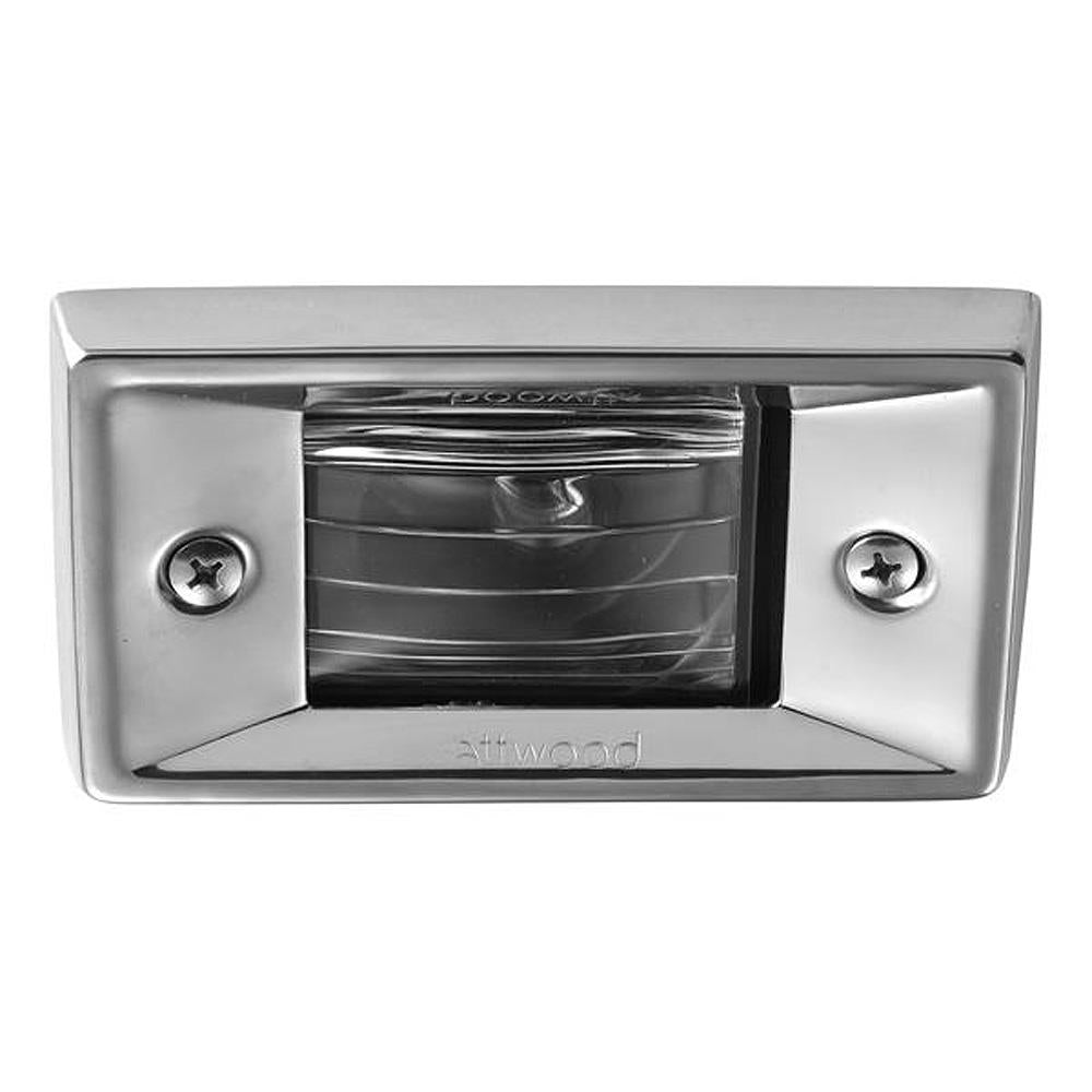 Attwood Vertical, Flush Mount Transom Light - Rectangular