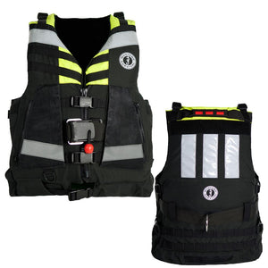 Mustang Universal Swift Water Rescue Vest - Fluorescent Yellow-Green-Black