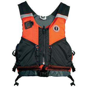 Mustang Shore Based Water Rescue Vest - M-L - Orange-Black