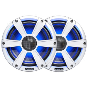"FUSION FL77SPW Signature Series Speakers - 7.7"", 280W Coaxial Sport - White w-LED Illumination"